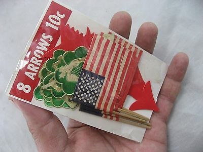 AMERICAN FLAG VINTAGE Favor Patriotic USA & STICKERS New Old Stock 5 Japan