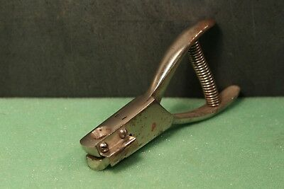 Original Railroad Ticket Puncher Metal Conductors Tool Railway Hole Punch Usa