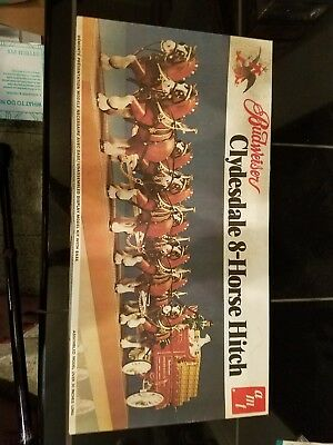 Vintage AMT Budweiser Clydesdale 8-Horse Hitch Model Kit