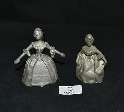 ThriftCHI ~ Unpainted Lead Figurines - Victorian Ladies in Dress