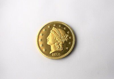 1850-O $20 Gold Coin Copy Gold Plated Fantasy Issue Proof