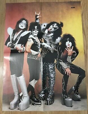 1999 Kiss In Makeup Band monster magnet magazine Pinup Poster