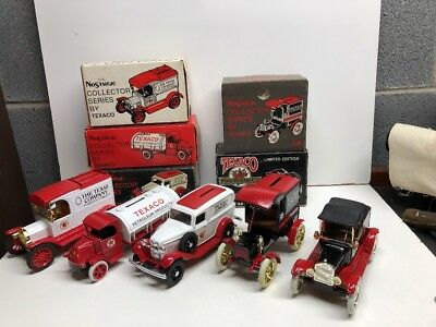 Lot Of 5 Texaco Collector Series Toy Truck Banks. #1 Through 5. 1984-1988. W/Box