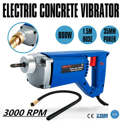 800W-Hand Held Electric Concrete Vibrator with 35mm Vibrating Poker 1.5m Hose