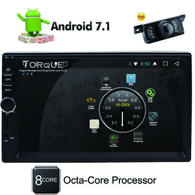 Android 7.1 2Din Car Radio Stereo 8Core Player GPS Nav OBD BT 4G WiFi HD 2GB MP3
