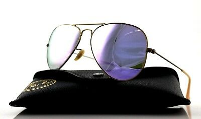 NEW Genuine RAY-BAN Aviator Flash Bronze Copper Lilac Sunglasses RB 3025 167/4K