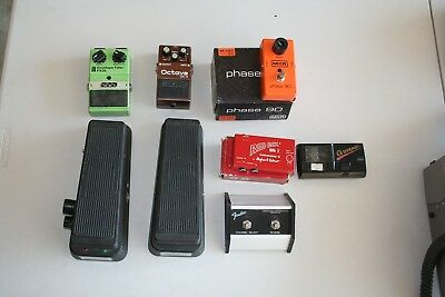Lot of 7 DOD, Boss, MXR, Red Box, Fender, Crybaby Guitar Effects Some Vintage