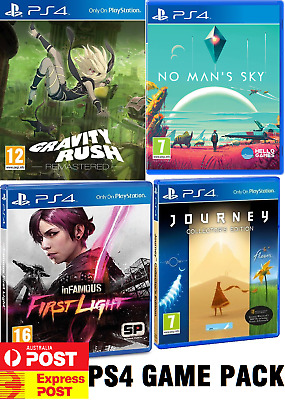 PS4 Infamous First Light, Gravity Rush, No mans sky, Journey Playstation 4 Game