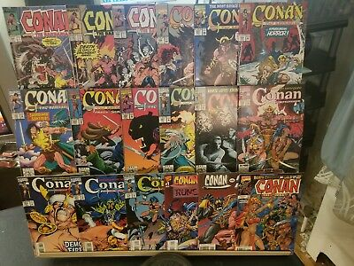 Lot Of 18 Different Marvel Conan The Barbarian Comics 220-272 + Others Look