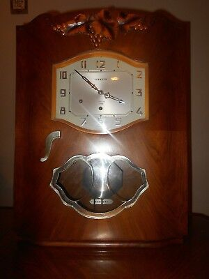 Vedette Antique Chime Wall Clock French Art Deco