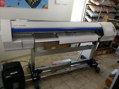 Roland Printer SP540v 54 IN Print and Cutter. WORKS POORLY, see description!
