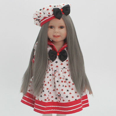 "Flaxen Long Straight Hair Wig for 18"" American Girl Dolls DIY Making Repair"