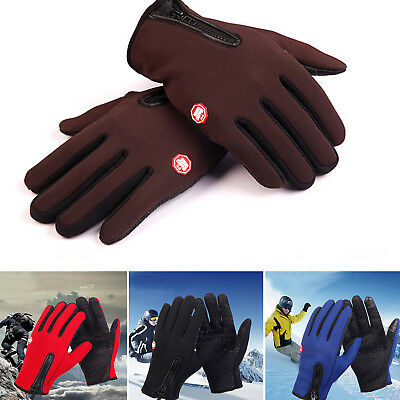 Fashion Touch Screen Windproof Skidproof Outdoor Sport Gloves Men Women Winter