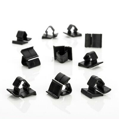 10x Clips For Citroën Peugeot Fiat Lancia Retainer Mounting Clips Black Plastic