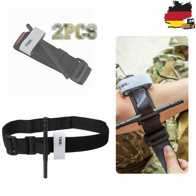 2X Military Red tip CAT Tourniquet Wölbung unwrapped Bandage Gloves First Aid【DE