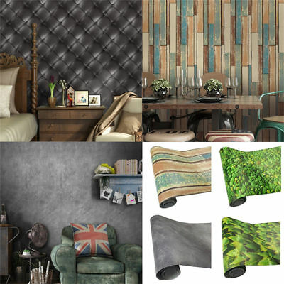 PVC Self-adhesive Embossed 3D Textured Effect Art Wall Paper Wallpaper Rolls