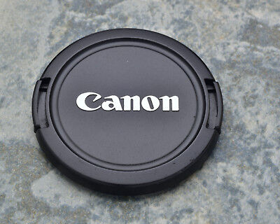 Canon EOS E 58mm Snap-On Front Lens Cap Chrome Logo 18-55 55-250 75-300 (#1449)
