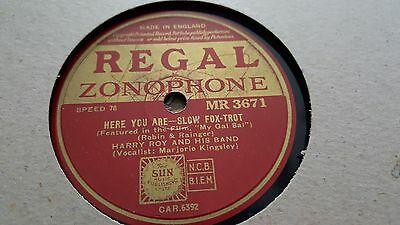 Harry Roy Here You Are & Oh The Pity Of It All Regal Zonophone Mr3671