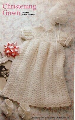 Christening Gown Baby Crochet Pattern copy 3 Ply