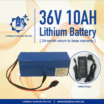 36V 10AH Lithium Battery w/ Charger for eBike Electric Scooter Mobility 500W