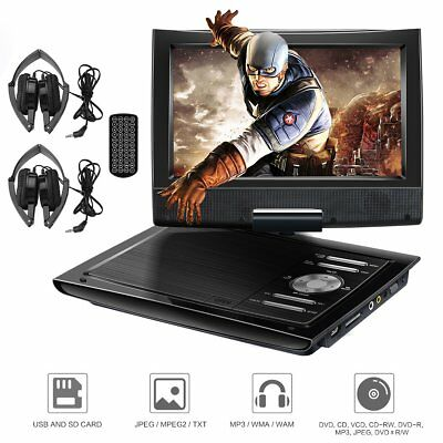"9"" Auto DVD Player Digital LCD Bildschirm Kopfstütze Monitor USB Mit 2 Headphone"