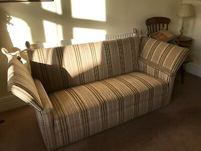 Large Knole Style, Drop Side Sofa or Settee. Reupholstered and VGC