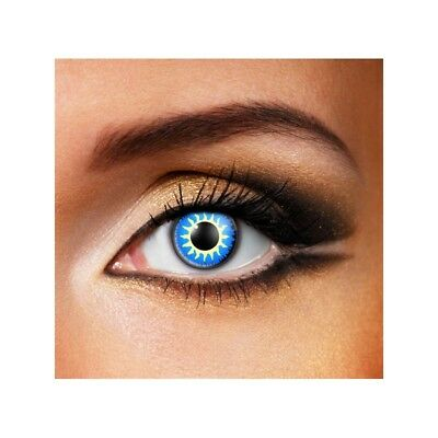 Lentilles de contact couleur Glamour bleu - glamour blue color lenses