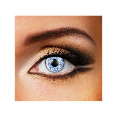 Lentilles de contact couleur 1 ton bleu - one tone blue color lens