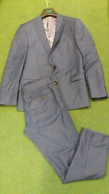 Mens French Connection Suit Blue
