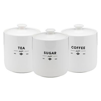 NEW Ecology Staples Foundry Tea, Coffee & Sugar Canister (Set of 3)