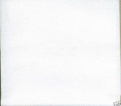 14 count WHITE Aida-74 cm x 50 cms  approx by  DMC for cross stitch
