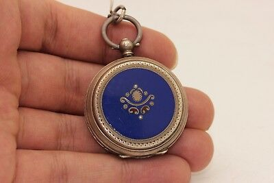 Antique Original Perfect Silver Enamel Ottoman Face Amazing Pocket Watches