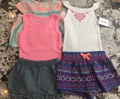 NWT 5pc. BABY GIRL CARTERS CLOTHING LOT- 6M