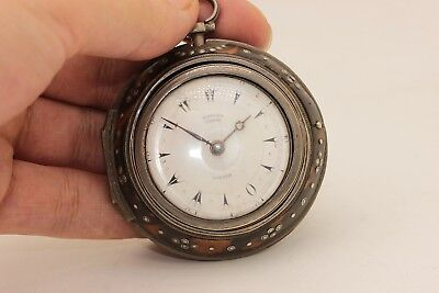 Antique Original Silver Edward Prior Amazing Ottoman Face Pocket Watches