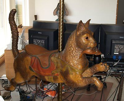 Antique Dentzel carousel Cat