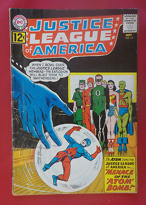 Justice League of America #14 ! DC 1962 ! NICE PAGES ! hayfamzone