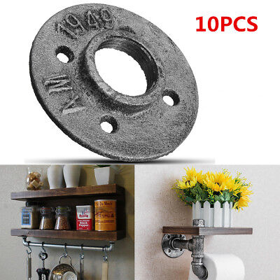 """10Pcs 1"""" Malleable Threaded Wall Floor Flange Iron Pipe Fittings Industrial US"""