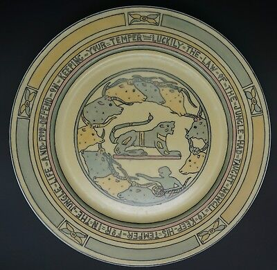Mary Bacon Jones The Jungle Book Folk Design Plate for Guerin Limoges - G