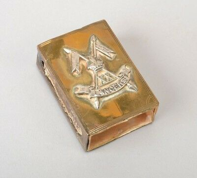 British Indian Cavalry Officer's XX Lancers WW1 Matchbox Case. Ref DQM