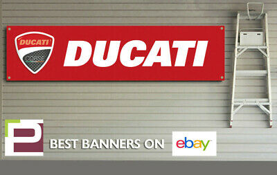 DUCATI Red logo Banner for Workshop, Garage, 916, 996, 998,