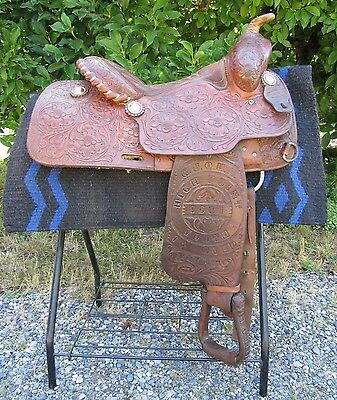 Price Mclaughlin Saginaw Texas Special Trophy Saddle - 1981