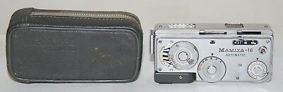 Mamiya 16 Automatic Miniature Camera Made In Japan 1959 Working With Case