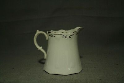 """antique old Victorian style Creamer small Pitcher white gold decoration 3 1/2"""""""