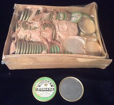 MINT NOS Antique Advertising Celluloid Pocket Mirror NUGGET POMADA BOOT POLISH