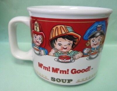 1997 Campbells HERO Kids Soup M'm M'm Good  Souper Mug Cup Fire / Police / Nurse