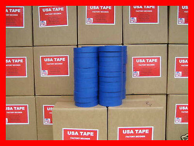 """48 Rolls 1"""" X60 Yrd Blue Painters Masking Tape MADE IN USA QUICK SHIP! FAMOUS"""