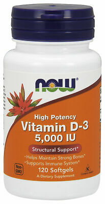 NOW Foods Vitamin D-3 5,000 IU - 120 Softgels