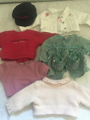 American Girl Doll LOT Clothes Sweatshirt Hat Sweater Tunic Shoes Jacket RETIRED