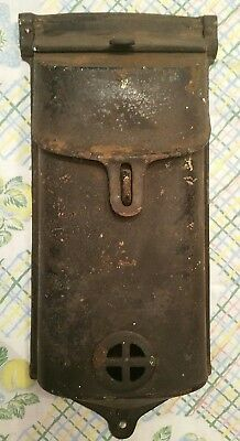 Antique Cast Iron Griswold Wall Mount Mailbox Double Door Stamped 353, 198