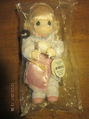"""NEW Precious Moments 12.5"""" Large LITTLE MISS MUFFET DOLL Bowl Spoon Spider"""